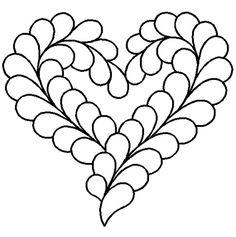Quilting Stencils > Heart Block - Item: 11  on QuiltingCreations ... : feather quilting stencils - Adamdwight.com