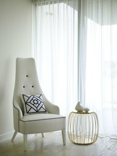I love the look of this chair. This is one great bedroom chair for a vanity. Its simple yet elegant.