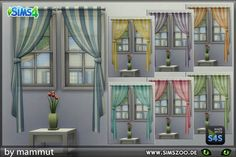 "blackyssims4zoo: "" Lovely curtains by mammut. Details and download at the Simszoo (free registration required) Find this and a lot more at the Simszoo! Need help with registration? Have a look..."