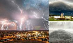 Lightning over the town of Newman in Western Australia is captured in a series of time exposures during a storm over the town on October * Western Australia, Australia Travel, Weather Storm, Sky Images, Lightning Strikes, Wild Nature, Thunderstorms, Mother Nature, Scenery