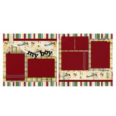 Two 12x12 Premade Scrapbook Pages My Boy by SusansScrapbookShack, $27.95