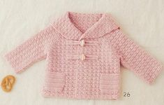 Rose colored winter baby jacket