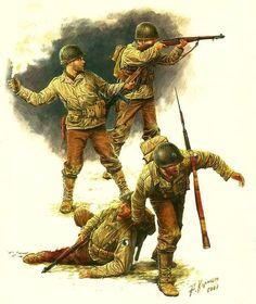 US Infantry D-Day Landing 1944