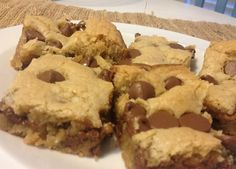 Heavenly Chocolate chip cookie bars