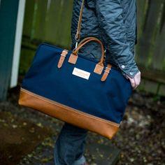 Bolsas Masculinas de Lona e Couro da Wood & Faulk - Canal Masculino