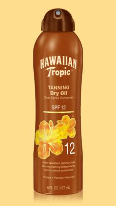 SPF 12 Tanning Dry Oil Clear Spray