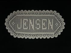 5 Letter Filet Crochet Name Doily.