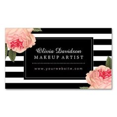 Shop Stylish Makeup Artist Business Cards created by colourfuldesigns. Elegant Business Cards, Custom Business Cards, Professional Business Cards, Business Card Maker, Bussiness Card, Makeup Artist Business Cards, Letterpress Business Cards, Hair Salon Interior, Name Cards