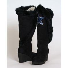 Women's Dallas Cowboys Cuce Shoes Navy Blue Spirited Wedge Pumps