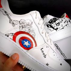 Custom Sneakers, Custom Shoes, Air Force 1, Nike Air Force, Marvel Shoes, Dream Shoes, Adidas Stan Smith, Designer Shoes, Sneakers Fashion