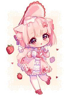 [+Video] Commission - Bunbun Chibi by Hyanna-Natsu on DeviantArt Anime Neko, Manga Kawaii, Cute Anime Chibi, Anime Girl Cute, Kawaii Chibi, Kawaii Anime Girl, Kawaii Art, Anime Art Girl, Anime Naruto