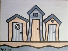 les cabines de plage - 24x19 - 35€
