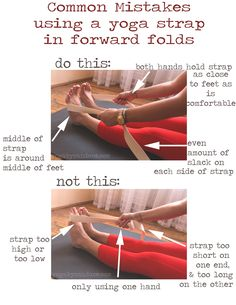 If you're anything like me, you squirm at the thought of having to do a bunch of forward folds in yoga class. They're uncomfortable and my hamstrings always feel like they're liable to snap at any second. If you're nodding along in agreement then you'll want to pay close attention and become friends with your nearest yoga strap (or, tie/belt/rolled up towel).