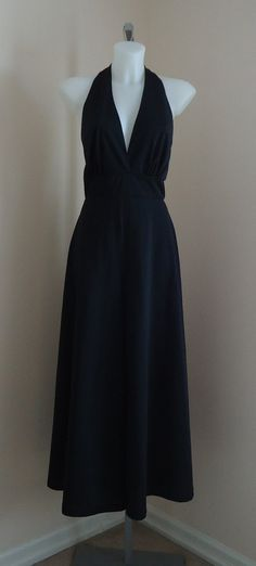 Vintage 1970s Leisure Lady Original Black Halter Top Wide Leg Pants on Etsy, $75.57 CAD