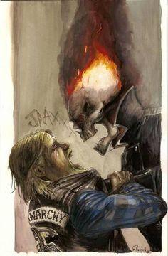 Ghost Rider and Jax