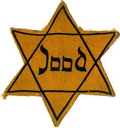 JodenSter - De joden moesten deze dragen in de 2e wereldoorlog zodat de nazi's zagen dat ze van joodse afkomst waren.