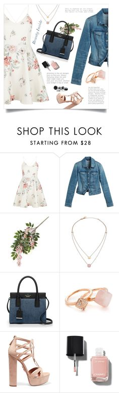 """""""Look 1 ( 06 / 02 / 2016 )"""" by aneetaalex ❤ liked on Polyvore featuring New Look, White House Black Market, Michael Kors, Kate Spade, Aquazzura and Chanel"""
