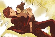 Gaara and Shikadai. I don't know who Shikadai is, he looks like Shikamaru, but this picture is adorable  ^-^