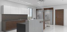 PR21 (proyecto residencial): cocina + mobiliario + revestimientos + iluminación #dgla #maracaibo #render