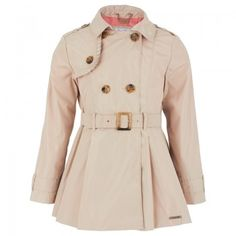 Mayoral Girls Beige Lightweight Trench Coat @ALEXANDALEXA.COM - perfect spring piece
