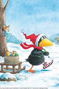 #derkleinerabesocke #rabe #socke #abenteuer #autorin #nelemost #illustration #annetrudolph #schlitten #schnee Illustration, Painting, Art, Raven, Sled, Snow, Christmas Time, Adventure, Pretty Pictures