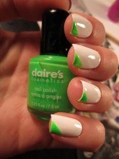 a little green neon nails