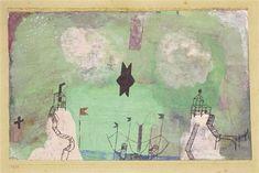 Küstenlandschaft mit 2 Aussichtsfelsen (Mit dem schwarzen Stern) by Paul Klee