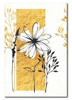 See painting my Home: Golden Garden or other paintings from the collection vintage. Abstract Line Art, Fashion Wall Art, Aluminum Foil Art, Art Plastique, Doodle Art, Canvas Art Prints, Flower Art, Watercolor Art, Art Lessons