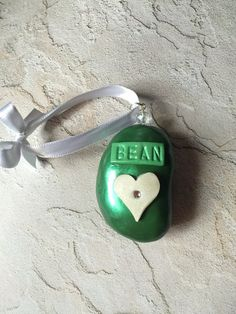 Lil' Bean Ornament Sculpture perfect for any by MyAdoredPeanuts