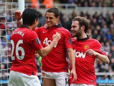 Manchester United - Kagawa, Chicharito, Mata