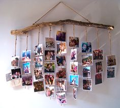30 Fantastic Ways To Display Your Photos In Your House - Feminine Buzz - A Lady's Home Decor - Photo Wall Hanging, Photo Wall Decor, Diy Wall Decor, Diy Para A Casa, Picture On Wood, Diy Home Crafts, Diy Photo, Handmade Home Decor, Diy Gifts