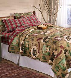 King Northwoods Lodge Quilt Set