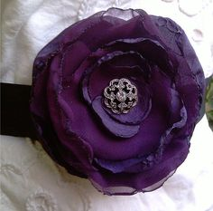 Eggplant Wedding Sash Belt  Marissa  by CherryBlosomBoutique, $34.95