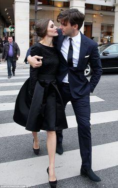Olivia Palermo & her boyfriend (model Johannes Huebl) <3 photo shoot in Tuileries Park, Paris <3 Saturday, March 3, 2012