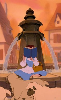 Belle and her books :)