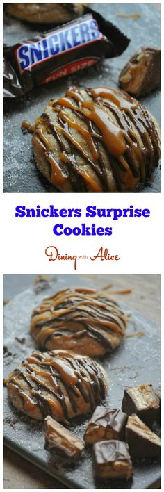 Snickers Suprise Cookies Dining with Alice