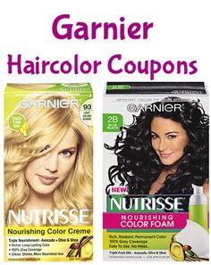 Garnier Haircolor Coupons: $2/1 Nutrisse and $2/1 Nutrisse Nourishing Foam!
