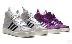 "Adidas Metro Attitude Logo ""Clear Green"" and ""Ultra Purple"""