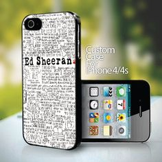 10144 Ed Sheeran design for iPhone 4 or 4s case