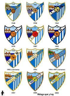Evolución del escudo del Málaga CF