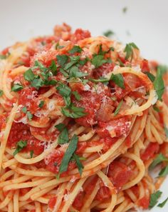 Low FODMAP and Gluten Free - Classic Amatriciana bucatini http://www.ibssano.com/low_fodmap_recipes_classic_bucatini.html