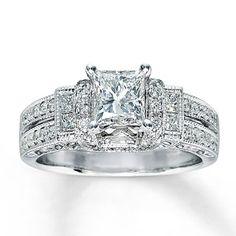 7114c6ba0 Diamond Engagement Ring 1 3/8 ct tw Princess-cut 14K White Gold. Kay  Jewelers ...