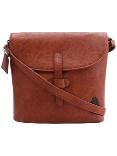 Brown Vintage PU Shoulder Bag -SheIn