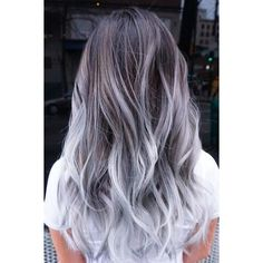 21 Try Grey Ombre Hair This Season | LoveHairStyles.com ❤ liked on Polyvore featuring accessories and hair accessories