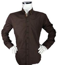 Koszula w kropki z długim rękawem - - Koszule męskie - Awii, Odzież męska, Ubrania męskie, Dla mężczyzn, Sklep internetowy Men Sweater, Sweaters, Fashion, Moda, Fashion Styles, Men's Knits, Sweater, Fashion Illustrations, Sweatshirts