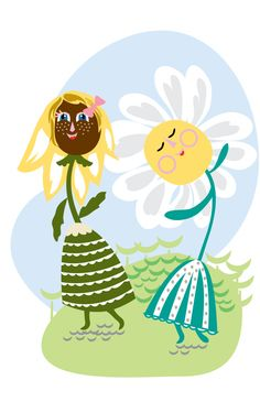 Daisy Dance Party-Childrens Illustration