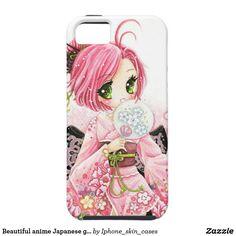 Beautiful anime Japanese girl in Kimono iPhone SE/5/5s Case