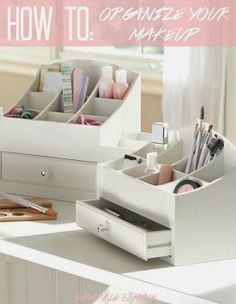 Sparkle & Mine- How To Organize Your Makeup Collection! So many great tips and cheap storage ideas!! MUST PIN for any girl that wants to organize her products like a beauty guru!
