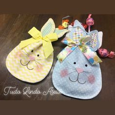 Bunny Crafts, Easter Crafts, Crafts To Make, Arts And Crafts, Diy Crafts, Sewing Tutorials, Sewing Projects, Shabby Chic Christmas, Handbag Patterns