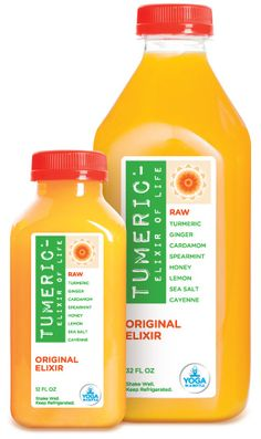 Seriously hooked on these! Tastes amazing and makes my body feel happy - fresh pressed turmeric, ginger, spearmint, cardamom, cayenne, raw honey ... The only 2 flavors I recommend are the Original elixir & Vanilla Bean elixir